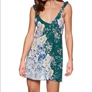 Free People Lauria Printed Mini Slip Dress NWT